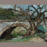 Joseph Raphael (American, 1869-1950) Old stone bridge 16 x 20in