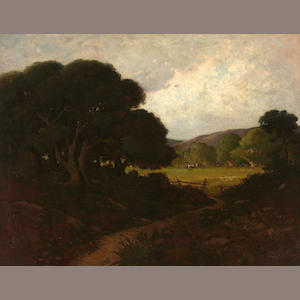 William Keith (Scottish/American, 1838-1911) Oaks near San Rafael, California, 1887 30 x 39in