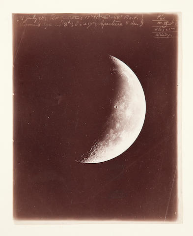 HOLDEN, EDWARD SINGLETON. 1846-1914. The Moon at 23 days and 8 hours, from Lick Observatory, Mount Hamilton, CA, July 28, 1891,