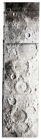 LUNAR ORBITER IV. Telephoto panorama centered on the crater Alphonsus, May 18, 1967,