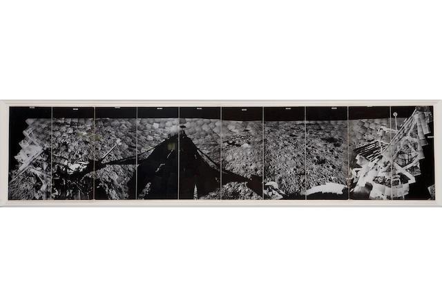 SURVEYOR I. Panorama of the Flamsteed region in Oceanus Procellarum, June 2, 1966-July 14, 1966,