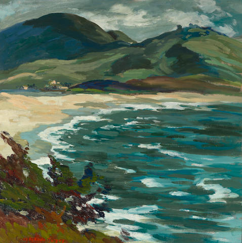 Mary DeNeale Morgan (1868-1948) Shore line, south of Carmel 24 x 24in