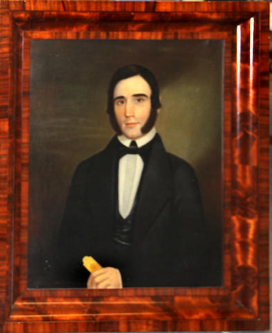 American School c.1850, Portrait of a gentleman