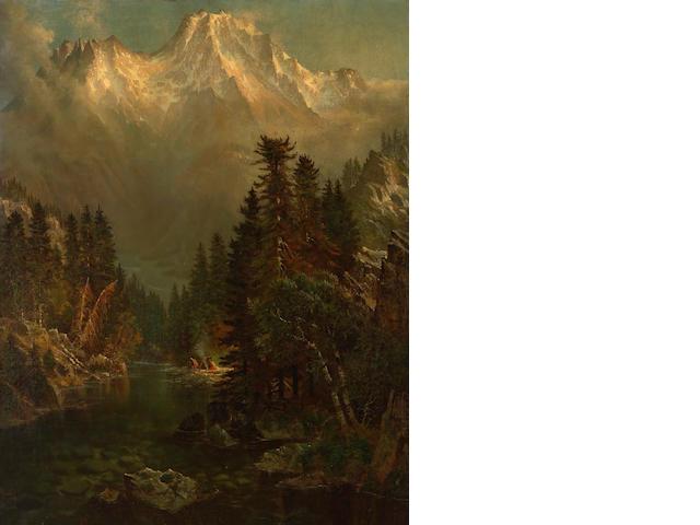 Edwin Deakin (American, 1838-1923) Mount Shasta, California, 1878 36 x 28in