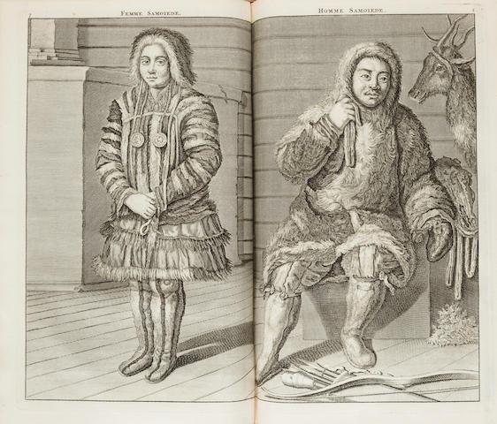LE BRUN, CORNELIUS. 1652-1727/28. Voyages de Corneille Le Brun par la Moscovie, en Perse, et aux Indes orientales.  Amsterdam: chez les Freres Wetstein, 1718.