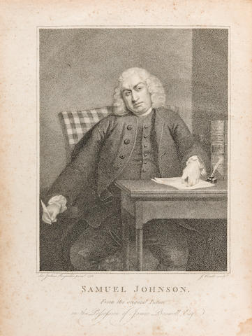 BOSWELL, JAMES. 1740-1795. The Life of Samuel Johnson, LL.D....  London: printed by Henry Baldwin for Charles Dilly, 1791.<BR />