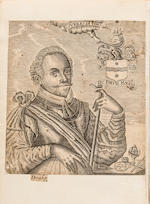 DRAKE, FRANCIS. 1540-1596. Sir Francis Drake Revived. Who is or may be a Pattern to stirre up all Heroicke and active Spirits of these Times ... Being a Summary and true Relation of foure severall Voyages ... to the West-Indies. London: for Nicholas Bourne, [1652]-1653.