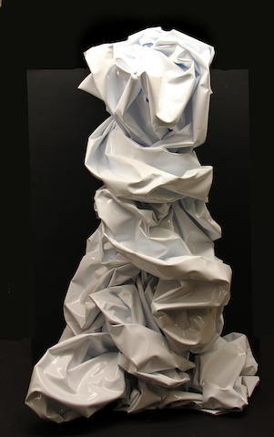 Mark Paron (American, born 1961) Crinkle Buddha #3, 2003 34 x 24 x 20in