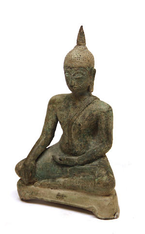 A cast bronze seated figure of the Buddha Shan State, Burmo-Thai, 18th/19th century