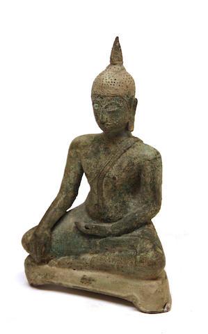 A cast bronze seated figure of the Buddha Shan State, Burmo-Thai, 18th/19th century