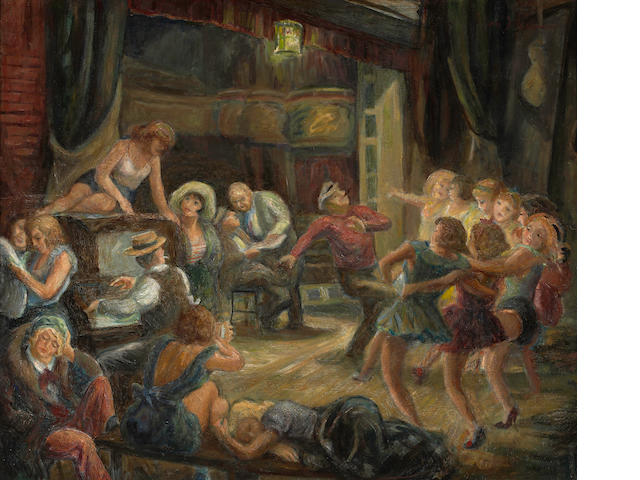 Don Freeman (American, 1908-1978) Dance rehearsal 24 x 29in