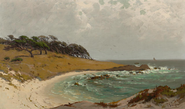Frederick Ferdinand Schafer (German/American, 1839-1927) Cypress Point, Monterey 12 x 20in