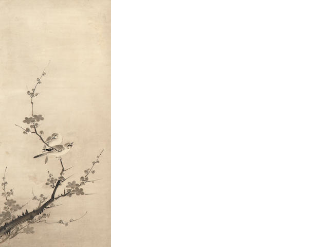 Anonymous (16th century)<BR />Birds on a Flowering Branch