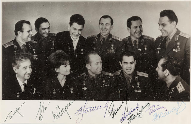 GAGARIN and others, soviet cosmonauts