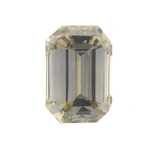 An unmounted fancy dark green-gray diamond