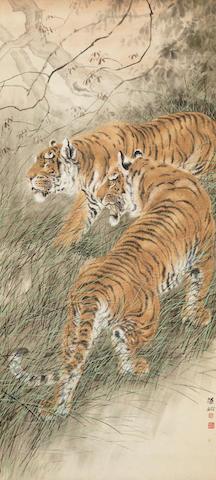 Hu Zaobin (1897-1942) Two Tigers