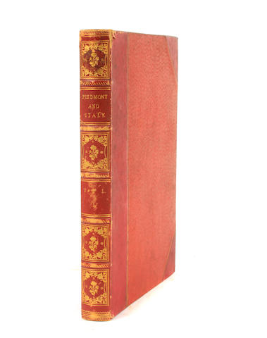 COSTELLO, DUDLEY. 1803-1865. Piedmont and Italy, from the Alps to the Tiber. Volume 1. London: James S. Virtue, 1861.