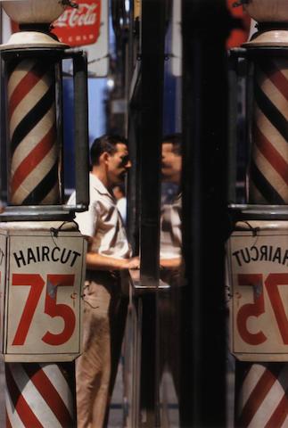 Saul Leiter (American, born 1923); Barbershop;