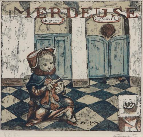 Léonard Tsuguharu Foujita (Japanese/French, 1886-1968); Merdeuse; Vagabond, from Les Petits Metiers ; (2)
