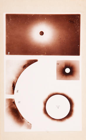 SCHAEBERLE, JOHN MARTIN. 1853-1924. Contributions from the Lick Observatory No. 4. Report on the Total Eclipse of the Sun, Observed at Mina Bronces, Chile, on April 16, 1893. Sacramento: State Office, 1895.