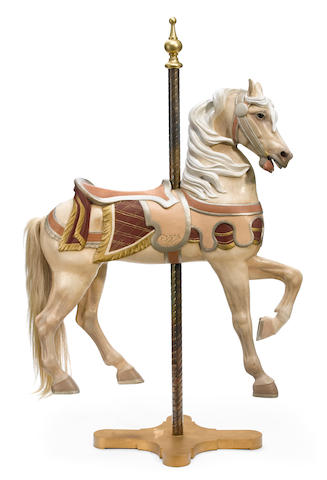 A carved and paint decorated carousel horse  Charles Carmel, Brooklyn, New York