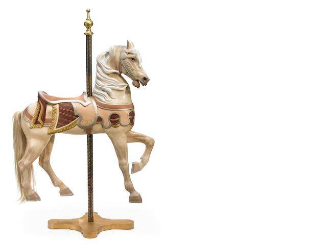 A Gustav Dentzel horse, Arabian type