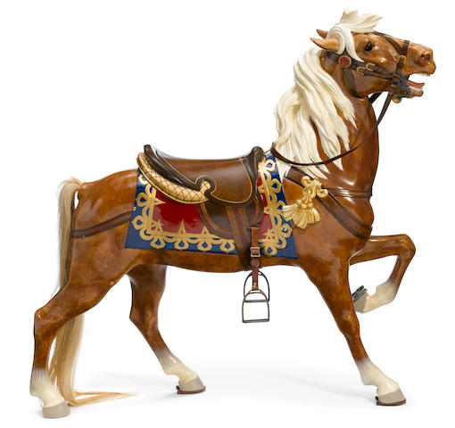 A carved and paint decorated carousel horse <BR /> Daniel Carl Muller, Philadelphia <BR />early 20th century