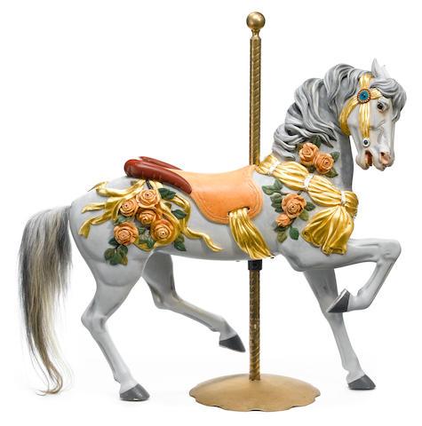 A Herschell-Spillman rose horse