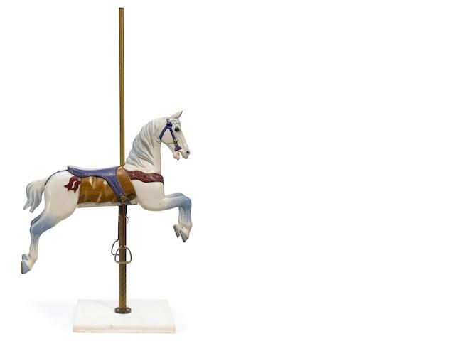 A Herschell-Spillman carousel horse- inspection
