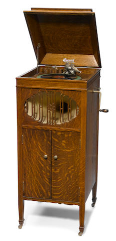 A Brunswick-Balke-Collender oak record player <BR />early 20th century