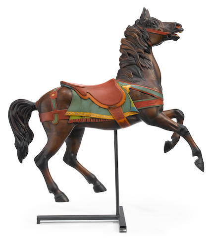 "A William Dentzler ""Prancer"" carousel horse"