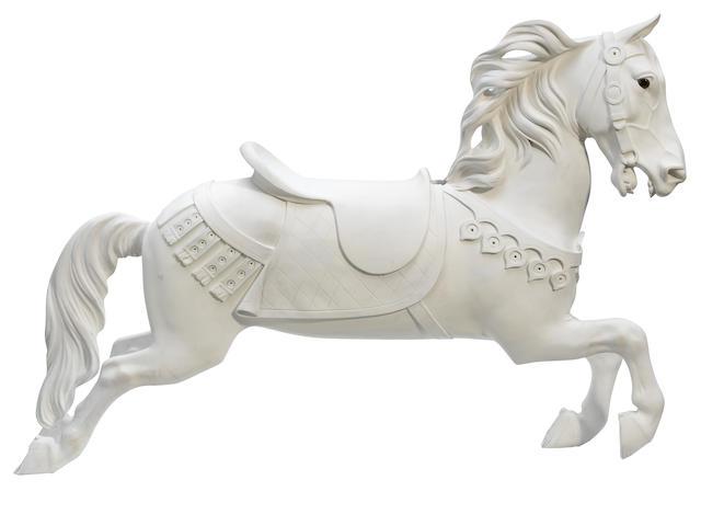 Large Illions- unpainted carousel horse- pending