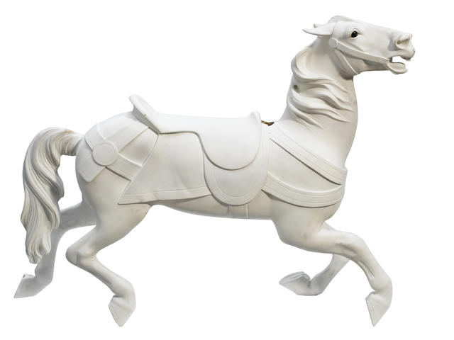 Small Illions- unpainted carousel horse- pending