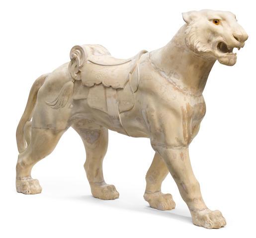 Muller Tiger- unpainted carousel tiger- pending