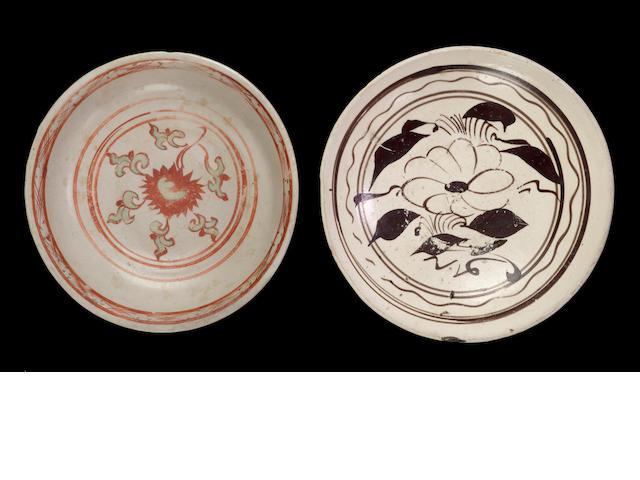 A cizhou stoneware dish 13th/14th century