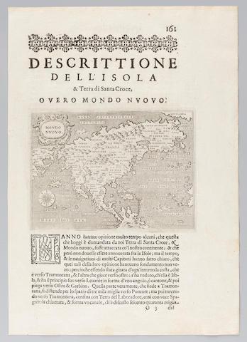 PORCACCHI, TOMASO. Mondo Nuovo. [Venice, 1572/1620.]