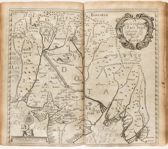 DELLA VALLE, PIETRO. 1586-1642. The Travels of Sig. Pietro della Valle, a noble roman into East India and Arabia Deserta ... Whereunto is added A Relation of Sir Thomas Roe's Voyage into the East-Indies. London: Printed by J. Macock for Henry Herringman, 1665.