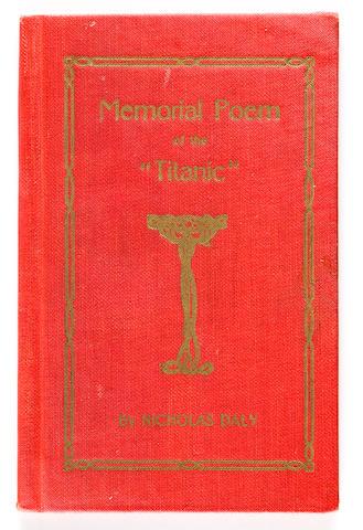 """[TITANIC] Daly, Nicholas Memorial Poem of the """"Titanic"""""""