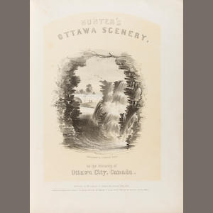 HOMER, WINSLOW, and others, lithographers. HUNTER, WILLIAM STEWART. Hunter's Ottawa Scenery, in the vicinity of Ottawa City, Canada.  Ottawa: Wm. S. Hunter Jr, 1855..