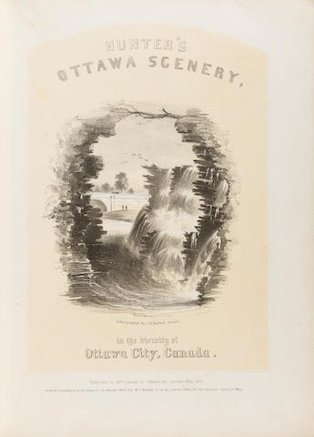 HOMER, WINSLOW, and others, lithographers. HUNTER, WILLIAM STEWART. Hunter's Ottawa Scenery, in the vicinity of Ottawa City, Canada.  Ottawa: Wm. S. Hunter Jr, 1855.<BR />