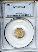 1842-O H10C MS64 PCGS