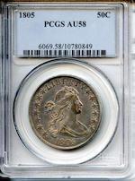 1805 50C AU58 PCGS