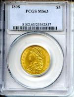 1808 $5 MS63 PCGS