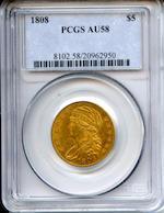 1808 $5 AU58 PCGS