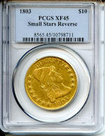 1803 $10 Small Stars Reverse, XF45 PCGS