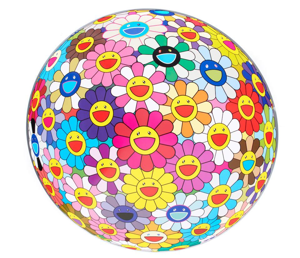 Takashi Murakami (born 1962); Flowerball (3D); Flowerball Pink; Flowerball Cosmos (3-D); (3)