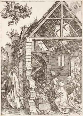 Albrecht Dürer (German, 1471-1528); Nativity Adoration of the Shepherds, from The Life of the Virgin (BWC 85; M. 197);