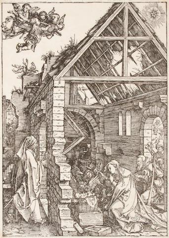 Albrecht Dürer (German, 1471-1528); Nativity Adoration of the Shepherds, from The Life of the Virgin (BWC 85; M. 197);