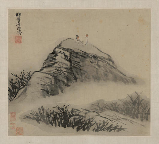 After Shitao (19th century) Landscape with Figures