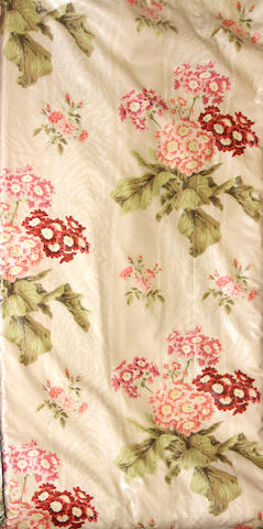 A group of six Sister Parish floral chintz drapery panels